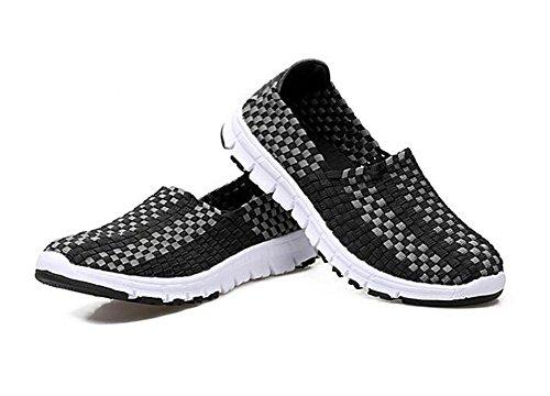 la paresseuses Chaussures Femmes ash de Main Faites à Sports Chaussures Chaussures Chaussures xie black pour Chaussures Décontractées 6SfqY