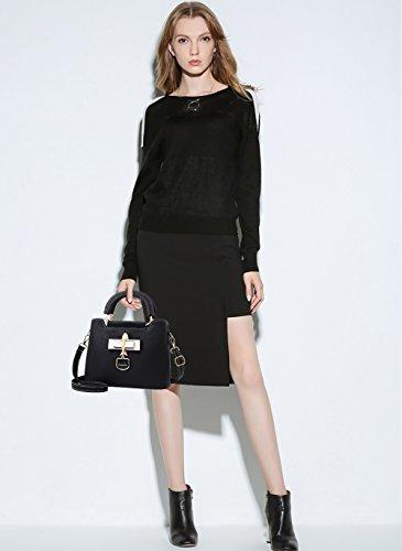 tracolla line borsetta pochette donna borse on bag pelle a borsa Nero Tisdaini in piccole xgw1CYfq