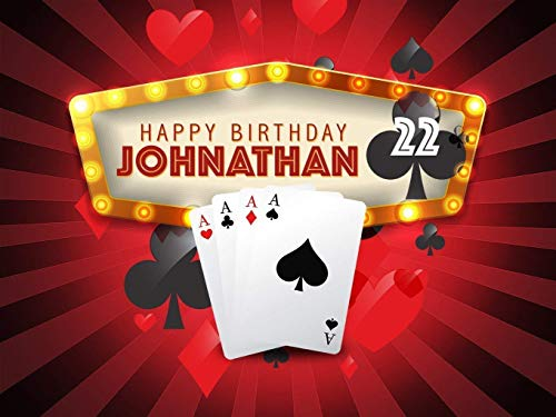 Personalized Casino party decorations, Dice, Poker cards, ace of hearts, aduly birthday party supplies, Vegas Backdrop, Handmade party supplies, Wall poster, Wall Decor, sizes 36x24, 48x24, 48x36]()