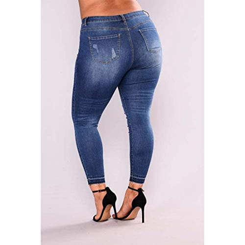 Jeans Rise Amabubblezing Taille Denim Long Distressed Plus Stretch Skinny Jeans 3 Style Mid Femme Jeans 4UdqH