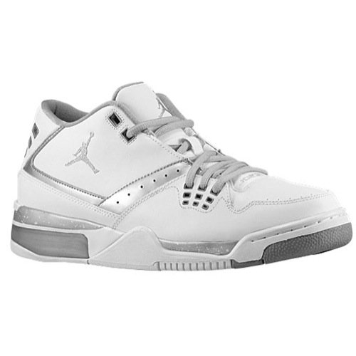Mens Air Jordan Flight 23 White Metallic Silver 317820-100 US 11.5
