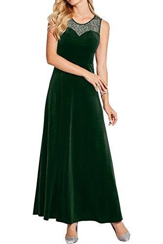 Rundkragen Damen Promkleider Dunkelgruen Cocktailkleider Klassich Ivydressing Abendkleider Samt Lang Partykleider qRptn6w