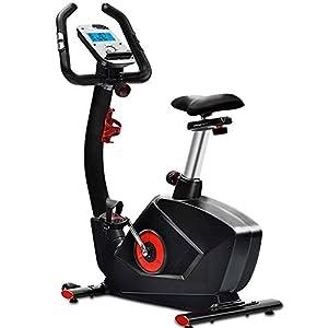 41o9FgZzftL. SS300 Allenamento Spin Bike Professionale Cyclette Aerobico Home Trainer, Monitor Lcd, Rilevazione Della Frequenza Cardiaca, 32 Livelli Di Regolazione Della Resistenza, Volano Silenzioso Elettrico Da 9