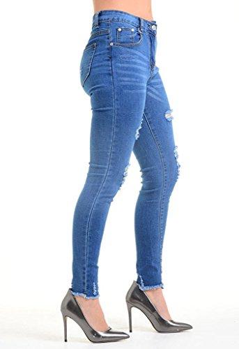 amp;ayat Cintura Momo Mujer Azul Para Fashions Vaqueros Alta 4qAdZS