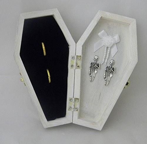 Wedding Party ceremony Gothic Wicca Coffin Tombstone ring bearer pillow Box