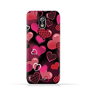 Infinix Hot X507 TPU Protective Silicone Case with Valentine Hearts Seamless Pattern Design
