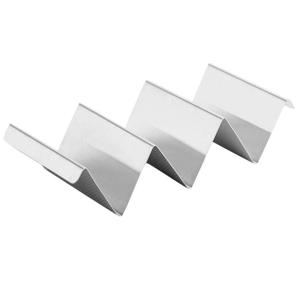 certainPL Wave Shape Stainless Steel Taco Holder Display Holders Kitchen Food Rack Shell