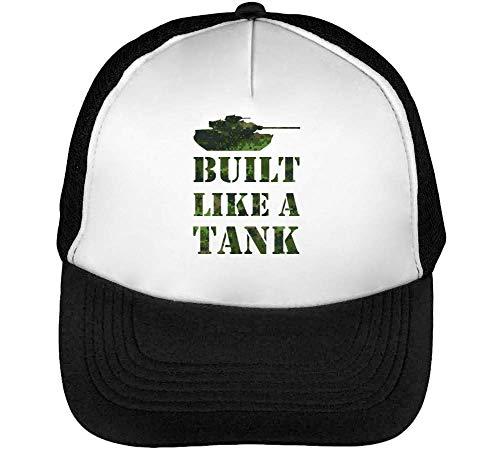 Negro A Blanco Beisbol Snapback Gorras Tank Built Like Hombre UOnBqv0S