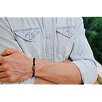 men's bracelet, groomsmen gift, Hamsa bracelet for men, bronze bead Hamsa and fish charm, against evil eye, men's jewelry, best man gift