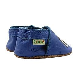 Sayoyo Soft Sole Leather Baby Shoes Baby Moccasins Elephant (Blue ,24-36 months)