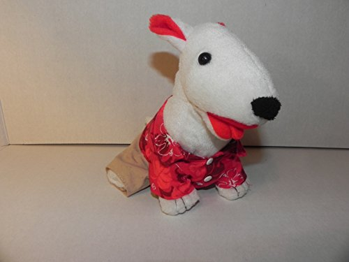 Plush Target Bullseye Bull Terrier Dog Mr. Hawaii 2009 Edition One