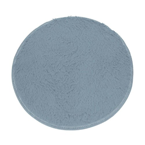 Area Rug,GOODCULLER Rugs Bedroom Rugs Non-slip Shower Round Soft Coral Fleece Mat Carpet Floor Mats Bath (Gray) (Shark Rug Shampooer compare prices)