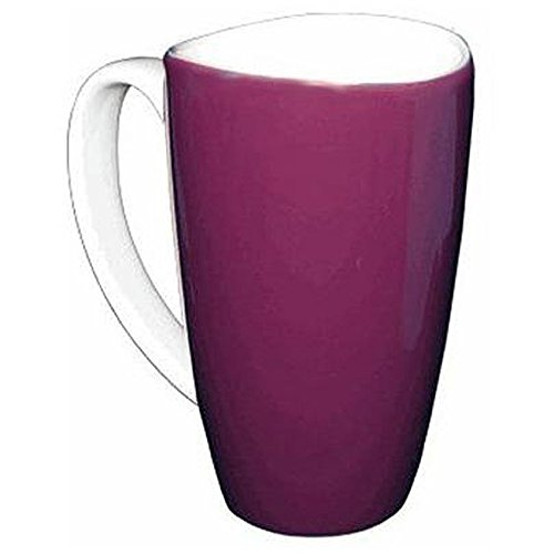 Wavy Rim Ceramic 17.5-oz Purple Mugs