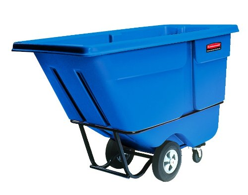 Blue Tilt Truck - Rubbermaid Commercial Forkliftable Polyethylene Dump Truck, 1250-Pound Capacity, Blue (FG131500DBLUE)