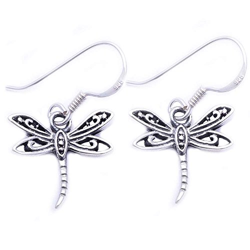 Sterling Silver Plain Dragonfly Earring