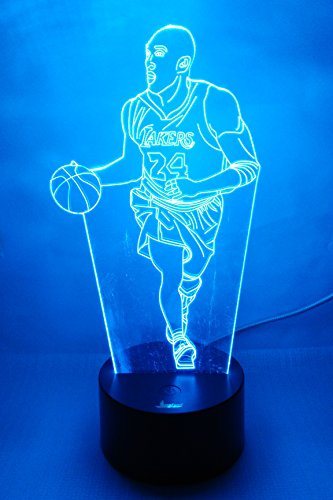 (Loveboat USB Powered 7 Colors Amazing Optical Illusion 3D Glow LED Lamp Art Sculpture Lights Produces Unique Lighting Effects and 3D Visualization for Home Decor (Playing Basketball))