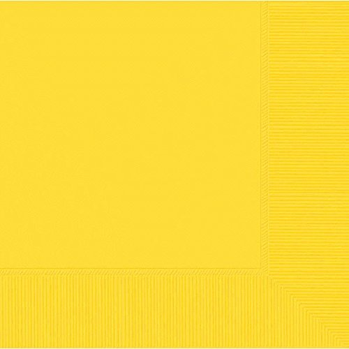 - Sunshine Yellow 3-Ply Beverage Napkins | Pack of 20 | Party Supply