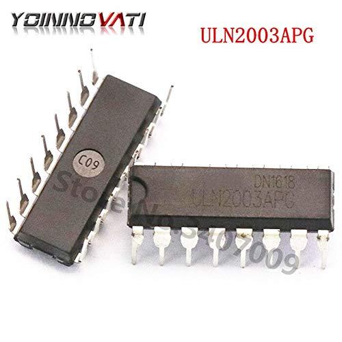 10PCS ULN2803APG,CN TRANS 8NPN DARL 50V 0.5A 18DIP ULN2803APG 2803 ULN2803