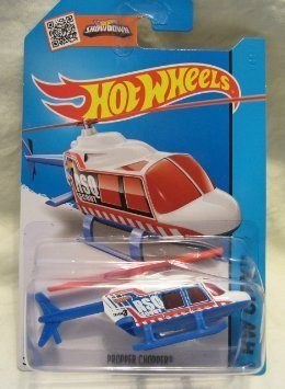 Hot Wheels, 2015 HW City, Propper Chopper  Helicopter Die-Ca