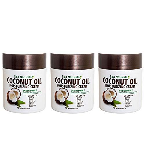 Lot of 3 Coconut Oil Cream 6 Oz/ea Coconut Oil Moisturizing Cream Vitamin E Dry Skin