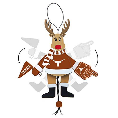 Texas Longhorns Ornaments - NCAA Texas Longhorns Wooden Cheer Ornament