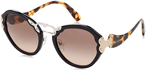 Prada Women's 0PR 09TS Black/Brown Gradient Grey - Prada Butterfly Sunglasses