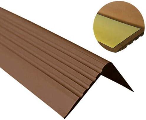 autoadhesivo Perfil para bordes de escaleras goma vinilo perfil angular PVC 50 x 42 RGP