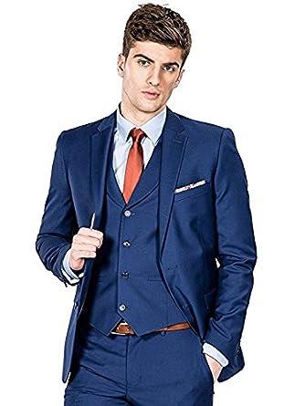 Amazon.com: Ysmo para hombre Slim Fit 3 piezas de vestido ...