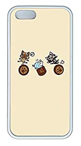 iPhone 5S Case, iPhone 5 Cover, iPhone 5S Two Catoon Cat Soft Cases