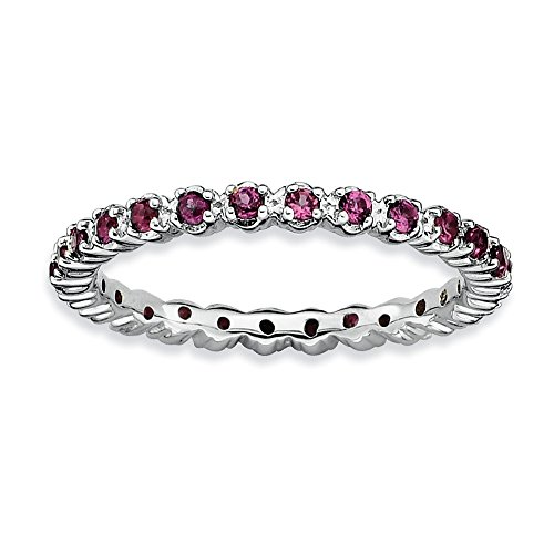 Sterling Silver Stackable Expressions Rhodolite Garnet Ring Size 10 by Jewels By Lux