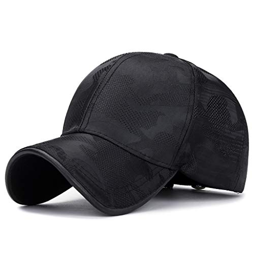 Trendy Unisex Flat Cap Baseball Cap Military Style Camouflage Printed Sun Hat Dad Hats