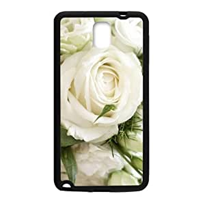 Personalized Clear Phone Case For Samsung Galaxy Note 3,elegant white roses