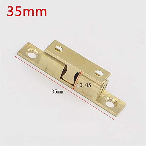 50pcs 35mm Wholesale Pure Copper Touch Beads Cabinet Door Catches Bronze Brass Color Double Ball Latch Clip Lock by Kasuki (Image #2)