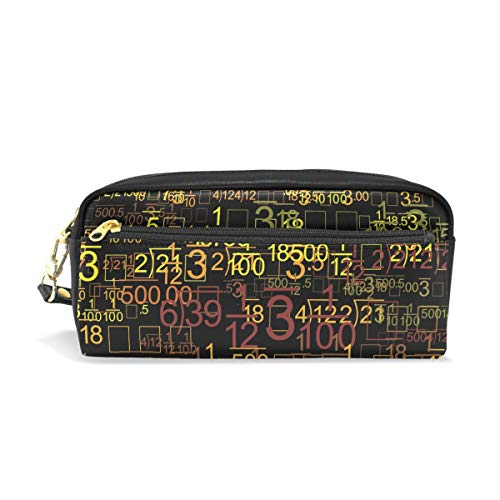 Pencil Case Math Digital Large Capacity Pen Bag Stationery Pouch Stationary Case Makeup Cosmetic -
