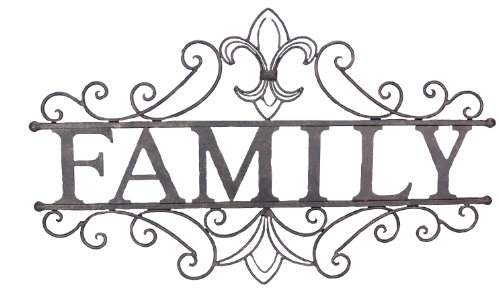 Young's Family Welcome Metal Wall Sign, 24.25-Inch (Family Metal Plaque)