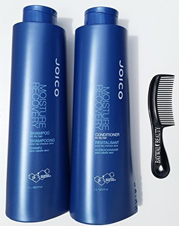 (Joico Moisture Recovery Shampoo And Conditioner Liter Duo Set 33.8 Ounce)