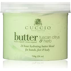Cuccio Tuscan Citrus and Herb Butter Blend Hydrating Treatment for Hands, Feet and Body, 26 Ounce