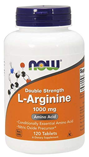 NOW Foods L-arginine 1000mg, 120 Tablets (2 Pack) by NOW Foods
