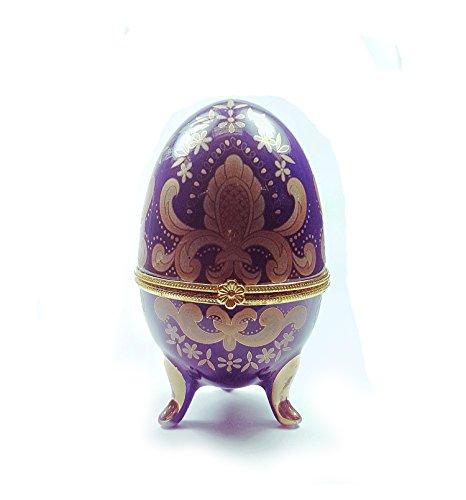 Blue and Golden Enamel Faberge-Style (Egg Enamel Box)