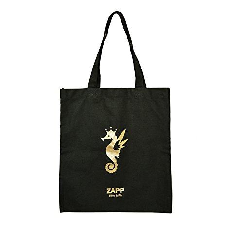 Shoulder Bag / Shopping Bag Cotton 42cm * 38cm (size: L Color: Black And Gold Reason Seahorse)