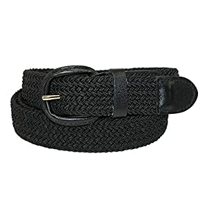 CTM Men's Elastic Braided Belt with Covered Buckle (Big & Tall Available) 41o9MUOdDtL