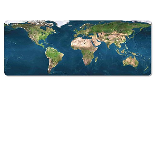 - Hnoerin XXL Extra Large Gaming Mouse Pads, Primeval Earth World Map Big Extended Waterproof Mousepad, Non-Slip Rubber Base keyboard Table Desk Cover Poker Mat