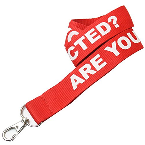 """100 Personalized 1"""" Polyester Lanyards with Your Logo Or Message 5 Day Rush"""