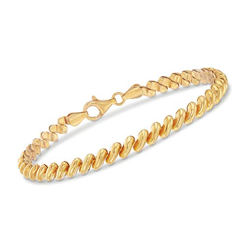 Ross-Simons Italian 18kt Yellow Gold Over Sterling Silver San Marco - San Marco Link