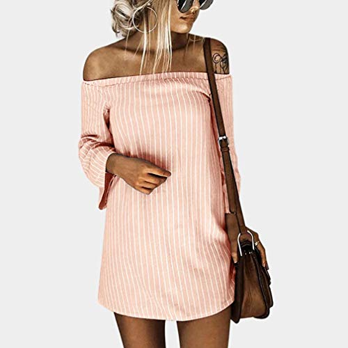 Arancione A Pullover Da Lunghe Con Mini Donna Eleganti Scollo Maniche Autunno Elecenty Cerimonia Abito Barchetta Inverno nqPfZcFWF