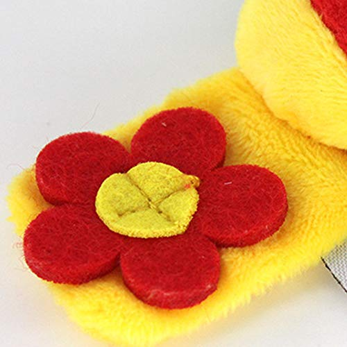 Calcetines de peluche de 14 cm para bebé, campana de mano, juguete colorido, paquete para cochecito, juguete para bebé, juguete para bebé, bonito, abeja, ...