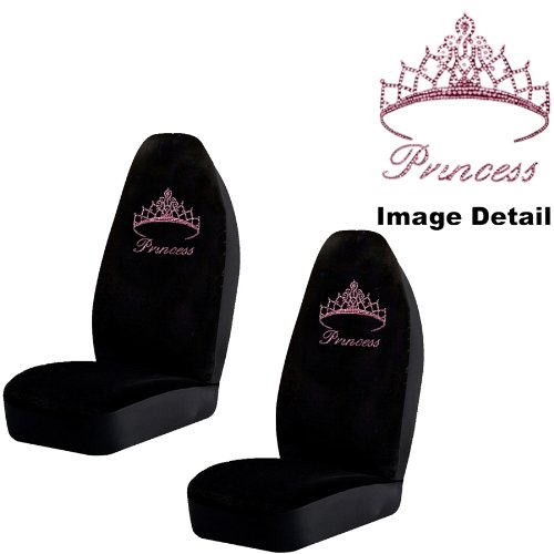 pink princess car seat covers - 8