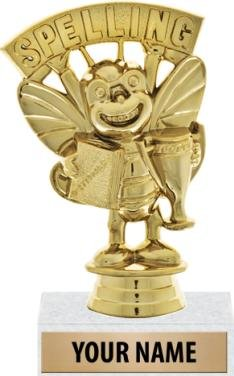 Scholastic Trophies - 4.5'' Spelling Bee Trophy Award With Custom Text 50 Pack Prime by Crown Awards