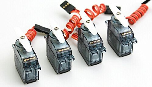 DY-1007 4pcs combo 9G Analog servo for DYNAM RC ()