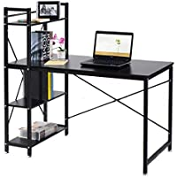home office table. TANGKULA Computer Desk Compact With 4 Shelves Home Office Study Table Home Office Table
